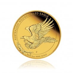 5 Unze Gold Wedge Tailed Eagle 2015 PP ( inkl. Box & Zertifikat) Mini