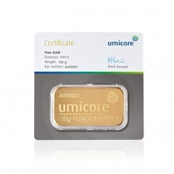 100 g Goldbarren Umicore Mini