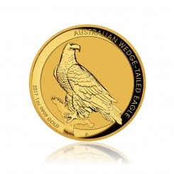 1 Unze Gold Wedge Tailed Eagle 2017 PP (High Relief) Mini