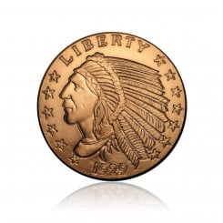 2 Unze Kupfermünze Indian Head 1929 Mini
