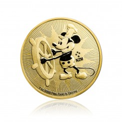 1 Unze Gold Steamboat Willie 2017 Mini