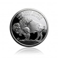 1 Unze Silber American Buffalo (Ultra High Relief) Mini