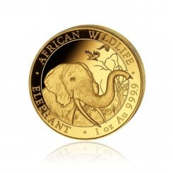 1 Unze Gold Somalia Elefant 2018 Mini