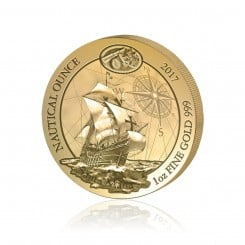1 Unze Gold Nautical Ounce Santa Maria 2017 (Auflage: 100 Münzen | in Etui) Mini