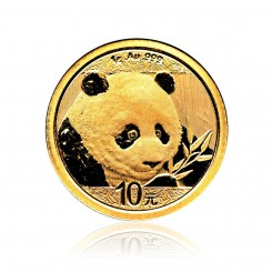 1g Gold China Panda 2018 Mini