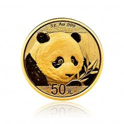 3g Gold China Panda 2018 Mini