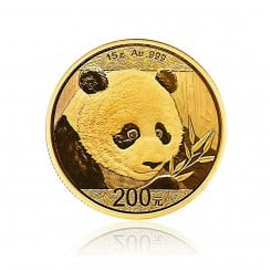 15g Gold China Panda 2018 Mini