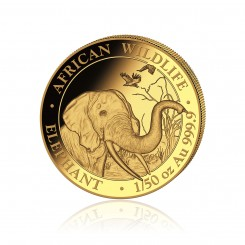 1/50 Unze Gold Somalia Elefant 2018 PP Mini