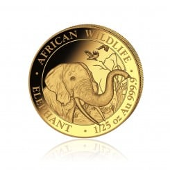 1/25 Unze Gold Somalia Elefant 2018 PP Mini
