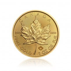 1 Unze Gold Maple Leaf 2018 Mini
