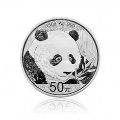 150g Silber China Panda 2018 (Polierte Platte) Mini