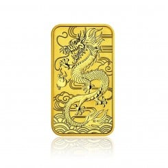 1 Unze Goldbarren Drache 2018 (Auflage: 25.000 | Perth Mint) Mini