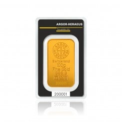 100 g Goldbarren Argor Heraeus Mini