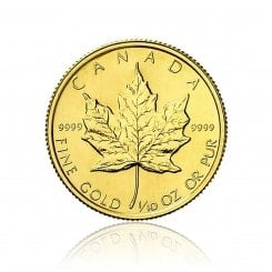 1/10 Unze Gold Maple Leaf 2013 Mini