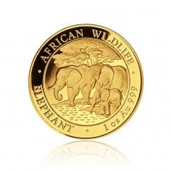 1 Unze Gold Somalia Elefant 2013  Mini