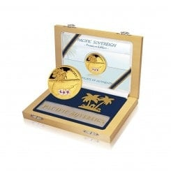 1 Unze Gold Pazific Sovereign 2012 Premium Edition  Mini