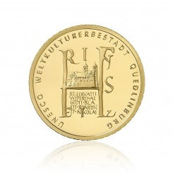 1/2 Unze Gold 100 Euro 2003 Unesco Quedlinburg Mini