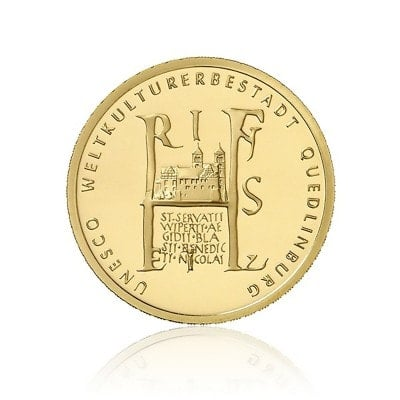 1/2 Unze Gold 100 Euro 2003 Unesco Quedlinburg