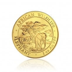 1 Unze Gold Somalia Elefant 2012 Mini