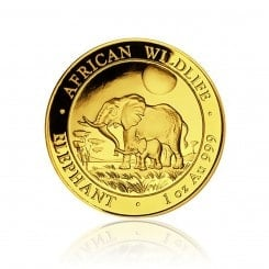 1 Unze Gold Somalia Elefant 2011 Mini