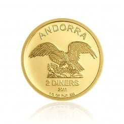 1 Gramm Gold Andorra Eagle 2011 Mini