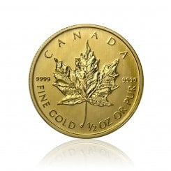 1/2 Unze Gold Maple Leaf  2012 Mini