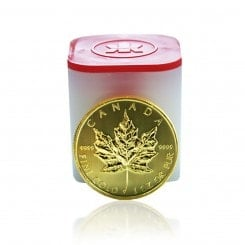 10 x 1 Unze Gold Maple Leaf 2014 Mini