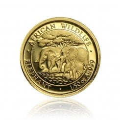 1/50 Unze Gold Somalia Elefant 2013 Mini