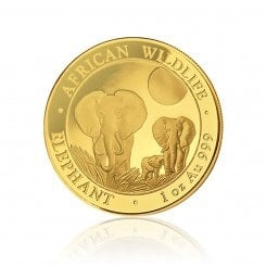 1 Unze Gold Somalia Elefant 2014 Mini