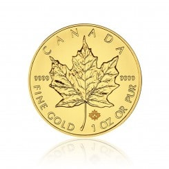 1 Unze Gold Maple Leaf 2014 Mini