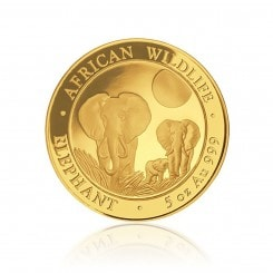 5 Unze Gold Somalia Elefant 2014 Mini