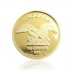 1/2 Unze Gold Andorra Eagle 2013 Mini