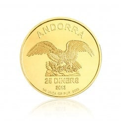 1/4 Unze Gold Andorra Eagle 2013 Mini