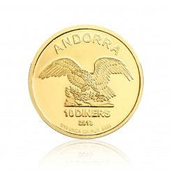 1/10 Unze Gold Andorra Eagle 2013 Mini