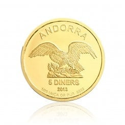 1/20 Unze Gold Andorra Eagle 2013 Mini
