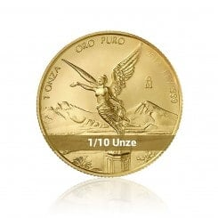 1/10 Unze Gold Mexiko Libertad 2014 Mini