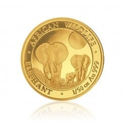 1/50 Unze Gold Somalia Elefant 2014 Mini