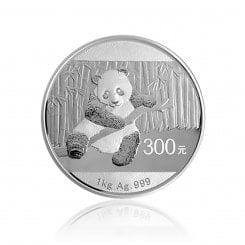 1 kg Silber China Panda 2014 (Polierte Platte) Mini