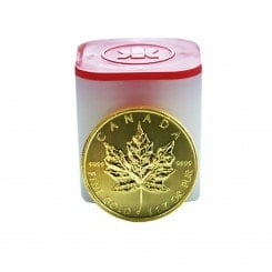 10 x 1 Unze Gold Maple Leaf 2015 Mini