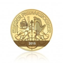 1 Unze Wiener Philharmoniker Gold 2015 Mini