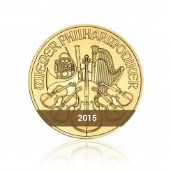 1/2 Unze Wiener Philharmoniker Gold 2015 Mini