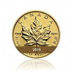 1/20 Unze Gold Maple Leaf 2015 Mini