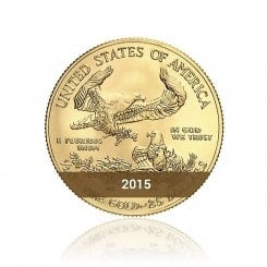 1/2 Unze Gold American Eagle 2015 Mini