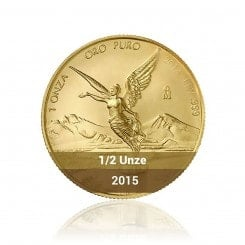 1/2 Unze Gold Mexiko Libertad 2015 Mini