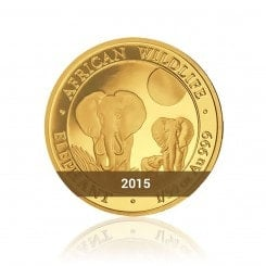 1/50 Unze Gold Somalia Elefant 2015 Mini