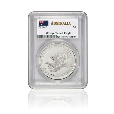 1 Unze Silber Wedge Tailed Eagle 2014 (GEM BU)