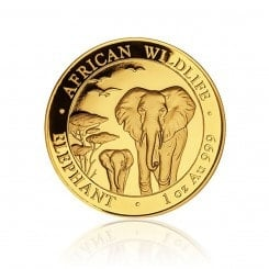 1 Unze Gold Somalia Elefant 2015 Mini