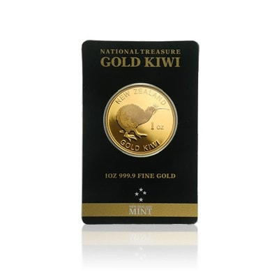 1 Unze Gold Kiwi New Zealand (im Blister)