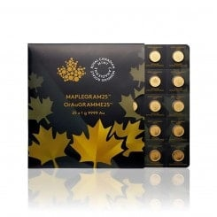 Gold Maplegram™ (25 x 1g Münzen) Mini