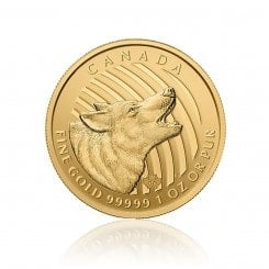 1 Unze Howling Wolf Gold 2014 (ohne Blister   999,99) Mini